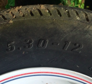 Wheel barrow tire size example.