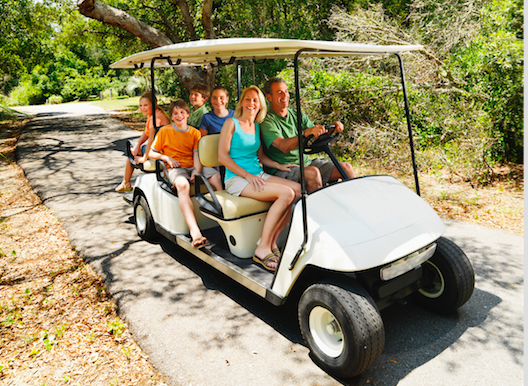 Golf carts are a fun and economical mode of local transportation