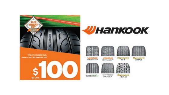 Hankook Tire Great Hit Rebate