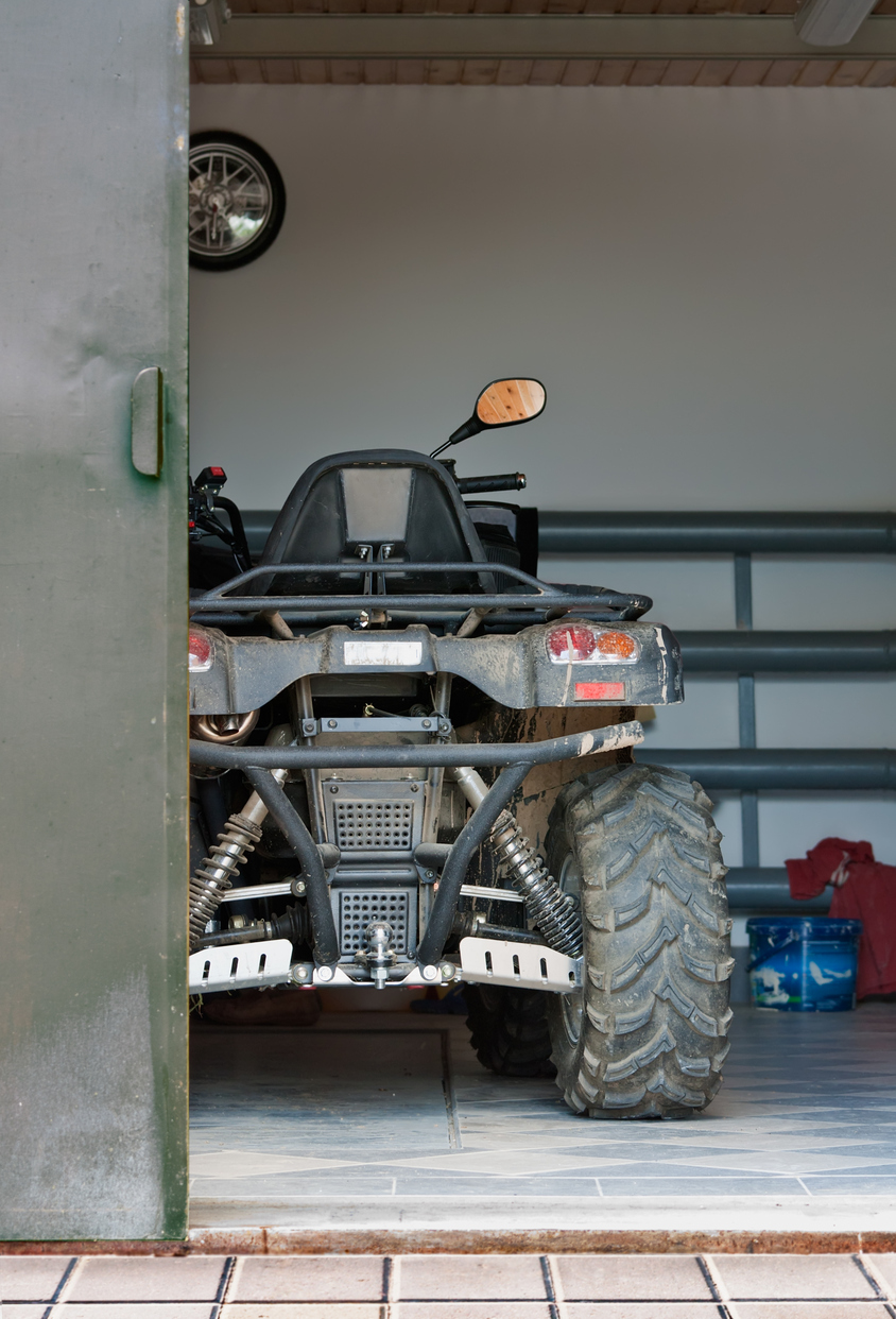 Mid-winter maintenance on ATV tires