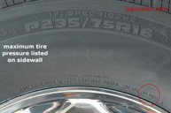 Maximum Tire Inflation Pressure