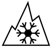 Three Peak Mountain Snowflake Symbol