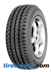 Goodyear Cargo Tire showing its deep tread and semi-open shoulder