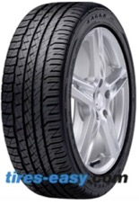 Goodyear Eagle F1 Asymmetric A/S ROF Tire and rim displaying the tread design