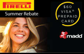 Pirelli Summer Tire Rebate