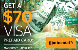 Continental Spring Tire Rebate