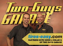 Two Guys Garage partnership with Tires-Easy