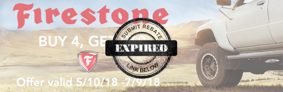 Firestone buy 4, get $60 back