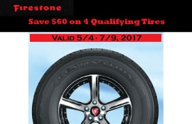 Firestone Tire Summer Rebate