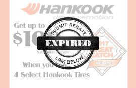 Hankook Tire Spring Rebate