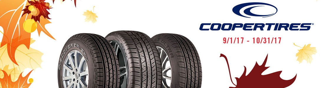 Cooper Tire Fall 2017 Rebate
