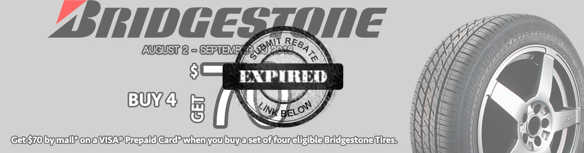 Bridgestone Summer 2018 Tire Rebate Tires Easy Com