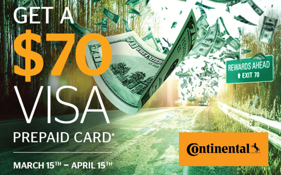 Continental Spring tire rebate 2017
