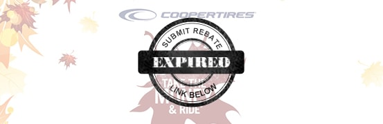 Cooper Fall 2017 tire rebate
