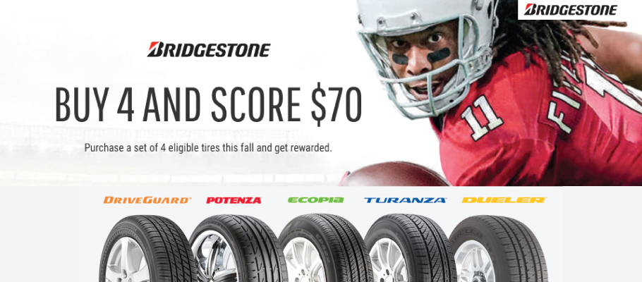 Bridgestone Tire Buy 4 And Score Fall 2017 Rebate Tires Easy Com