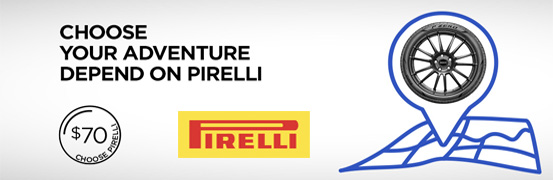 Save up to $70 in the Pirelli Tires Spring Rebate