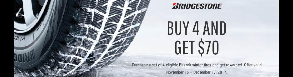 Bridgestone 2017 Winter Tire Rebate