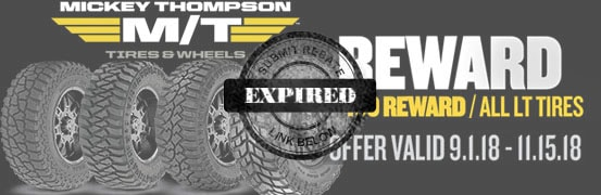 Mickey Thompson Tires Fall 2018 Rebate