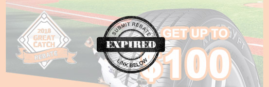 Save up to $100 in the Hankook Great Catch Spring Tire Rebate