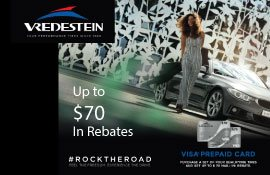 Vredestein Spring Tire Rebate. Save up to $70!