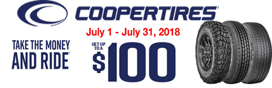 Cooper Tire Summer 2018 Take the Money and Ride