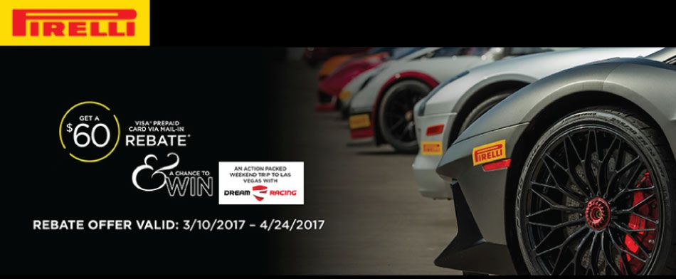 Pirelli Tire Spring 2017 Rebate