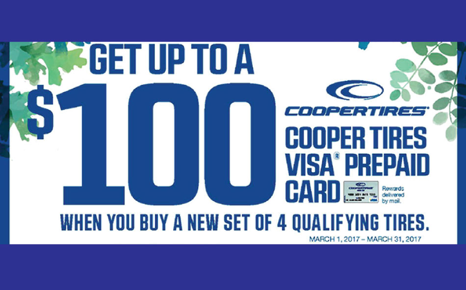 Save in the Cooper Spring Tire Rebate