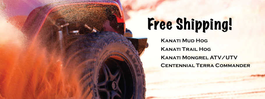 Free Shipping on Kanati Off Road Tires & the Centennial Terra Commander