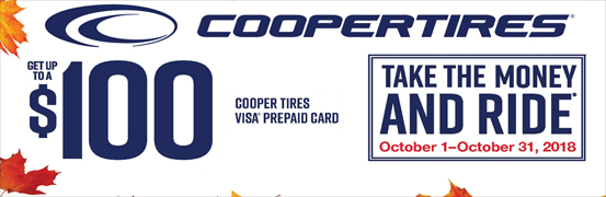 Cooper Tire Fall Reward 2018 Take the Money and Ride