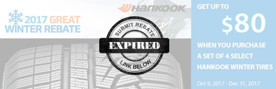 Hankook Winter Tire Rebate 2017