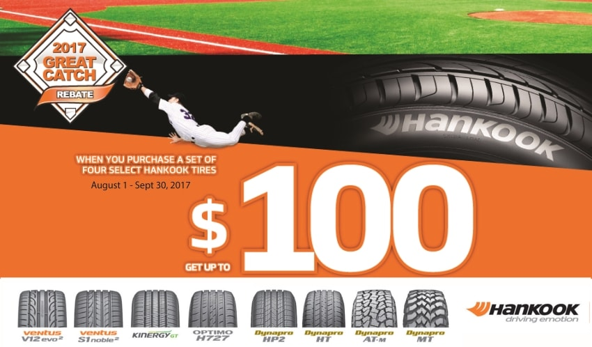 Hankook Tires Rebate Fall 2017