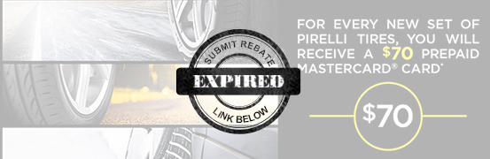 Save $70 in the Pirelli Tire Spring Rebate