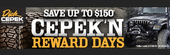 Save $100 in the Dick Cepek Spring Rebate